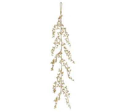 150cm Gold Glitter Leaf Garland