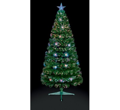 1.2M Green Parcel LED Christmas Tree with Red, Green and Blue Parcels: 125 Tips