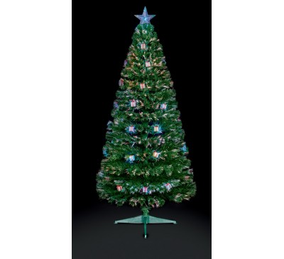 1.5M Green Parcel LED Christmas Tree with Red, Green and Blue Parcels: 170 Tips