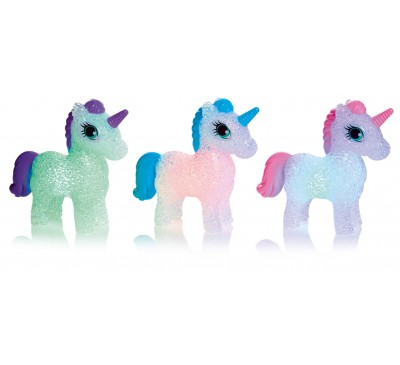 13cm Colour Changing Unicorn Pink,Blue and Purple