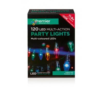 120 Multi-colour LED Lights Multi-Action - C6 Bulb