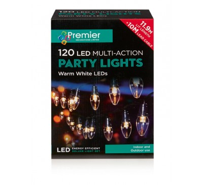120 Warm White LED Lights Multi-Action - C6 Bulb