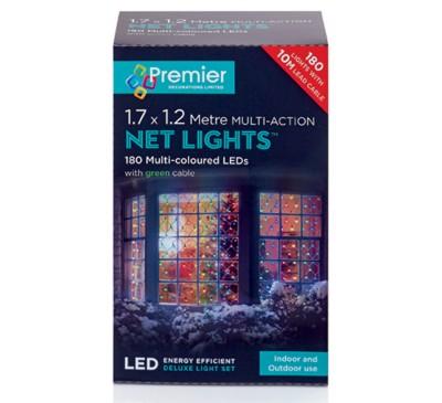 1.75x1.2M 180 Multi Action Multicol LED Net Light