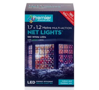 1.75x1.2M 180 Multi Action White LED Net Light