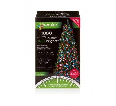 1000 Multi Action LED TreeBrights with Timer and Multi Coloured Lights