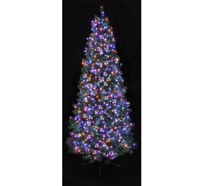 1000 Multi Action LED TreeBrights with Timer and Purple, Pink, Turquoise and Orange Lights