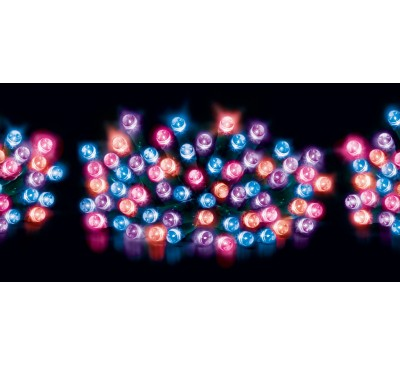120 Multi Action LED Supabright Lights and Timer with Purple, Pink,Turquoise and Orange LEDs