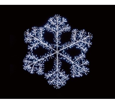 1.2m Silver Starburst Snowflake with 960 White LEDs