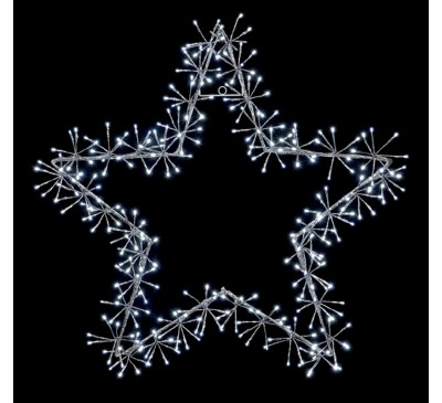 1.2M Silver Star Cluster with 480 White LEDs