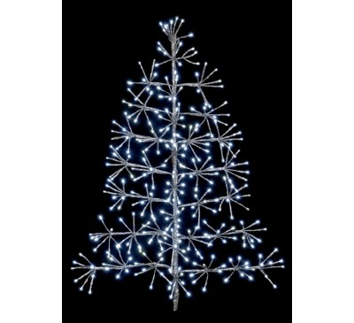 90cm Silver Tree Starburst with 296 White LEDs