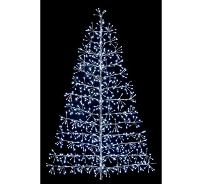 1.5M Silver Tree Starburst with 744 White LEDs