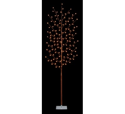 1.8M Copper LED  Tree with Star and 128 Warm White LED lights