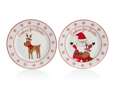 20cm Cookies For Santa Plate