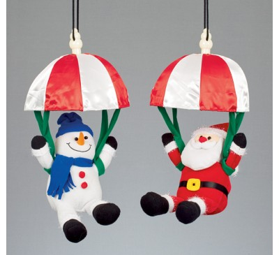 2 Asst Battery Operated Musical Kicking Leg Parachuting Characters