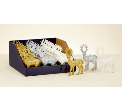 12cm Mini Glitter Deer