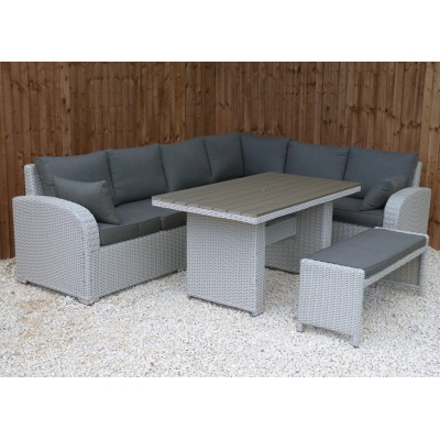Ancona Polywood Casual Dining Corner With Bench