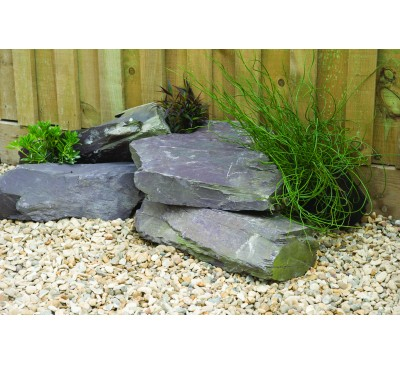 Plum Slate  Rockery Large