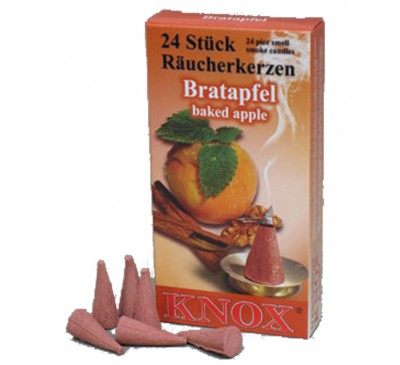 Smoking Insence Cones 24 Pack Baked Apple scented