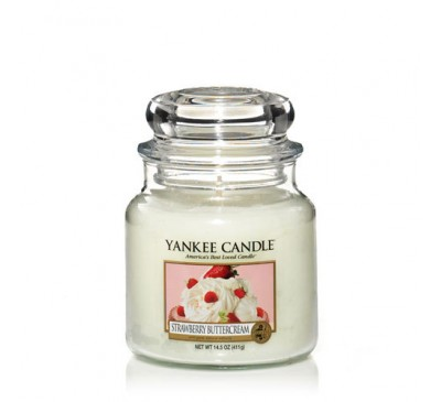 Yankee Strawberry Buttercream Medium Jar