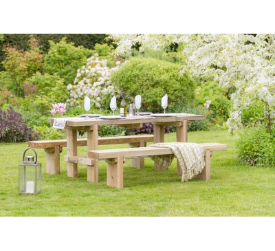 Harriet Table and 2 Bench Set