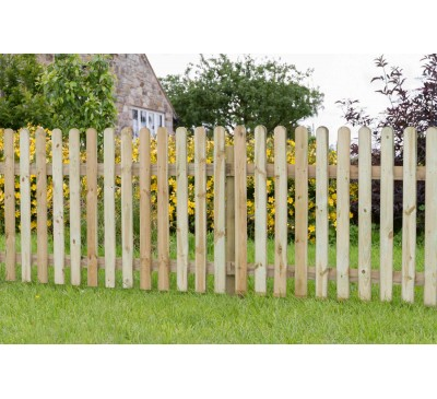 Rounded Top Picket Pale Fencing