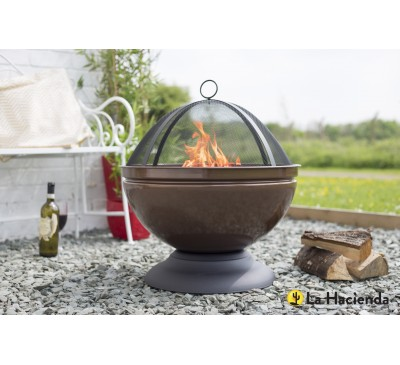 Globe Bronze Effect Firepit with Grill