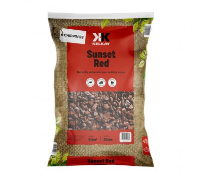 Sunset Red Granite Chippings 2 for £10 - 25kg Bag (approx)