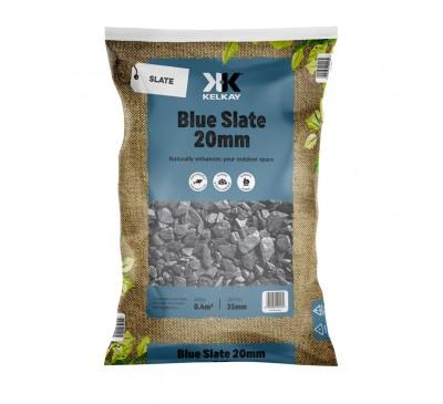 Blue Slate 20mm 2 For £10 - 25kg Bag (approx)