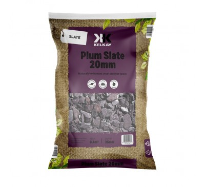 Plum Slate 20mm 2 Bags for £10 - 25kg Bag (approx)