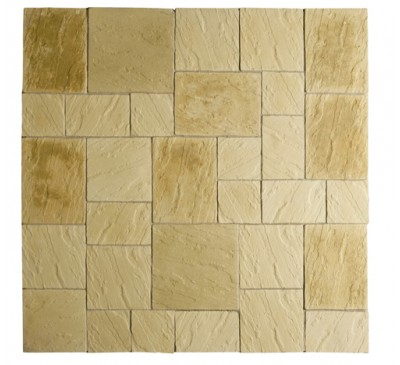 Abbey Paving Patio Kit 5.76 Square Metres York Gold