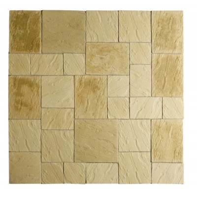 Abbey Paving Patio Kit 5.76 Square Metres York Gold