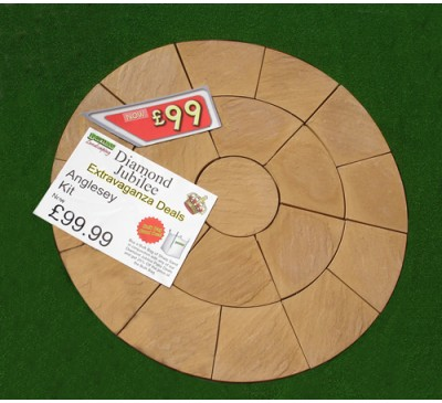 Anglesey Circle Patio Kit 2.1m