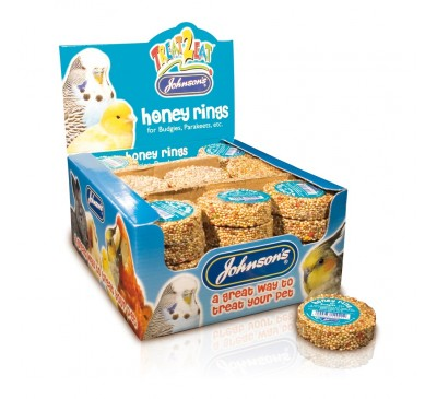 Johnson's Treat2eat Honey Rings Budgie 25g