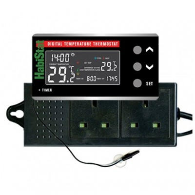 HabiStat Digital Temperature Thermostat with Day & Night Function