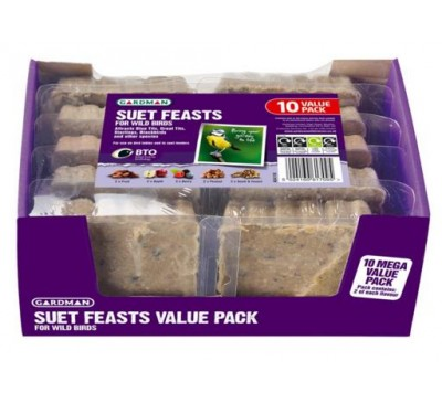 Gardman Suet Feasts Value 10 Pack