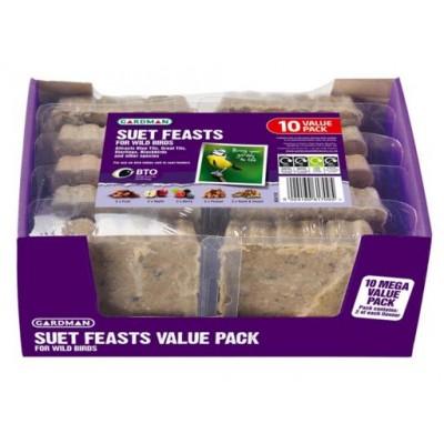 Gardman Suet Feasts Value 10 Pack