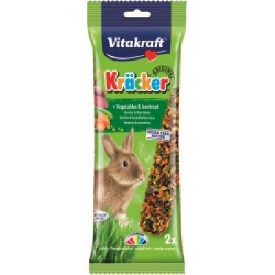 Vitakraft Kräcker Original + Vegetables & Beetroot Rabbit 2pcs