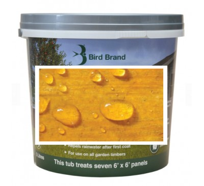 Bird Brand Shed & Fence One Coat Protection Autumn Gold 5 litres
