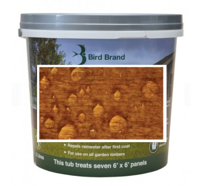 Bird Brand Shed & Fence One Coat Protection Medium Oak 5 litres