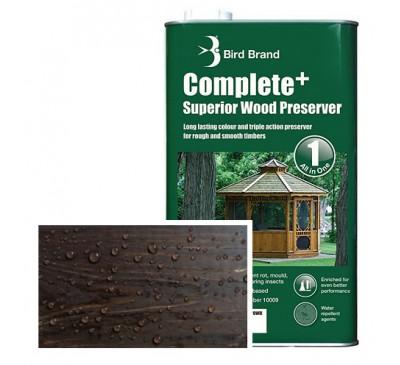 Bird Brand Complete+ Superior Wood PreserverDark Brown 2.5 litres