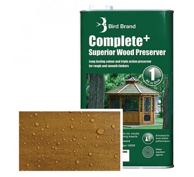 Bird Brand Complete+ Superior Wood PreserverGolden Brown2.5 litres