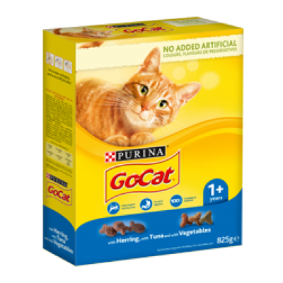 PURINA® GO-CAT® ADULT Cat with Herring, with Tuna and with Vegetables 2kg