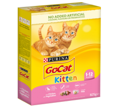 PURINA® GO-CAT® KITTEN with Chicken with Milk and with Vegetables 2kg