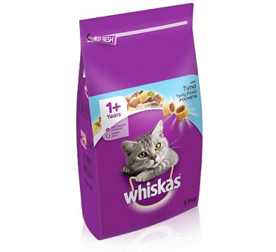 WHISKAS 1+ Cat Complete Dry with Tuna 2kg