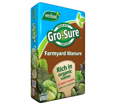 Westland Gro-Sure Farmyard Manure 50 Litres