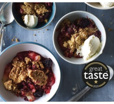 Bramley Apple & Blackberry Crumble (Serves 2)