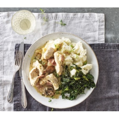 Chicken with White Wine & Thyme (Serves 1)