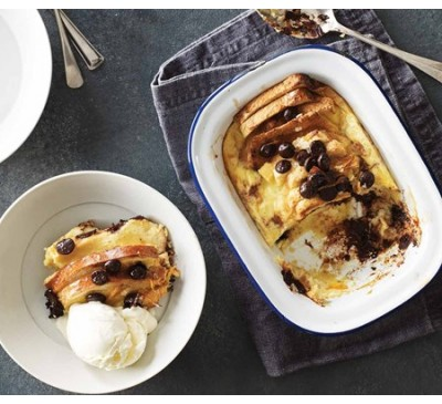 Chocolate Orange Bread & Butter Pudding