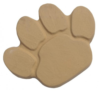 Animal Paw Stepping Stone 400x300mm Buff Gold