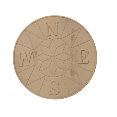 Compass Centre Stepping Stones 595mm Dia - Buff Gold